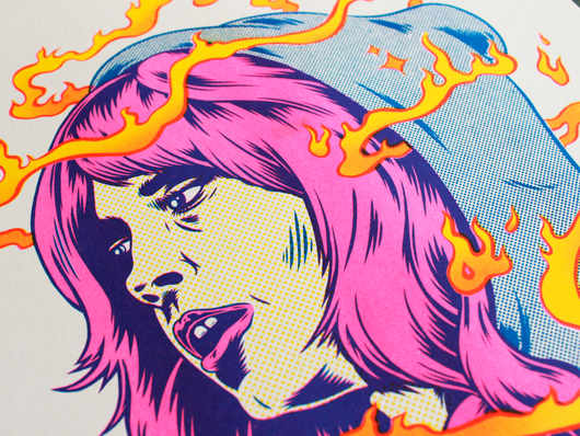 "'Sorceress"" RISO Print"