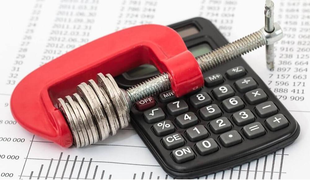 calculadora-moeda-papel com graficos
