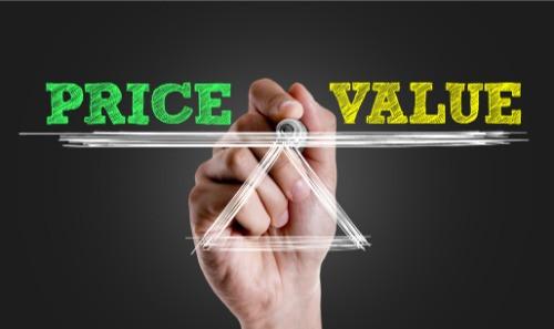Preço-valor-balança