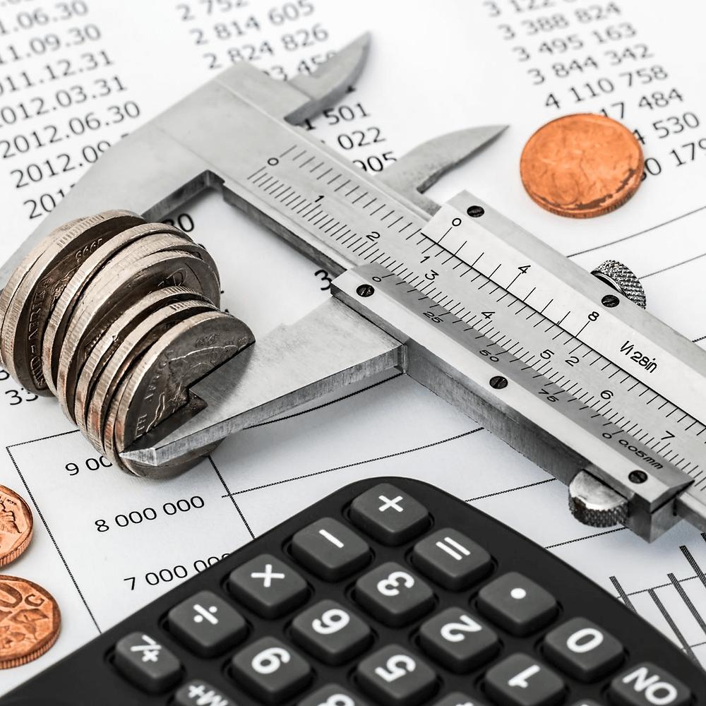 Calculadora-medidor-moedas- relatórios contábeis