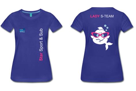 s-team, donna, maglia sub