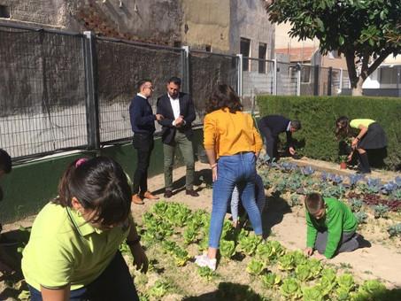 Medio Ambiente otorga al C.P de Hurchillo  una subvención por su proyecto del huerto escolar.