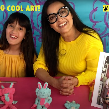 How to Make a Clay Bunny Sculpture Inspired by KAWS