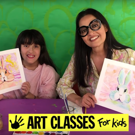 How to Make a Watercolor Bunny Painting!