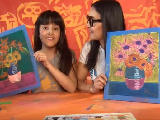 How To Draw Van Gogh Sunflowers