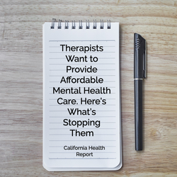 Therapists Want to Provide Affordable Mental Health Care. Here's What's Stopping Them