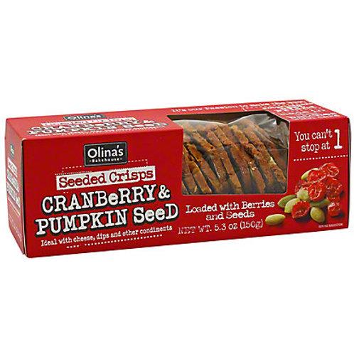 Cranberry & Pumpkin Seed Crisps