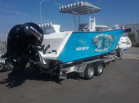 cairns fishing adventures, fishing charters cairns, Queensland, Australia, Custom design boat Cairns Fishing Adventures
