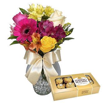 Flores no Vaso + Bombons