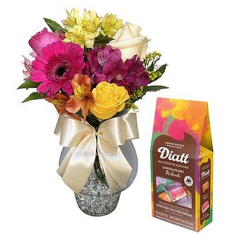 Flores no Vaso + Bombons Diet