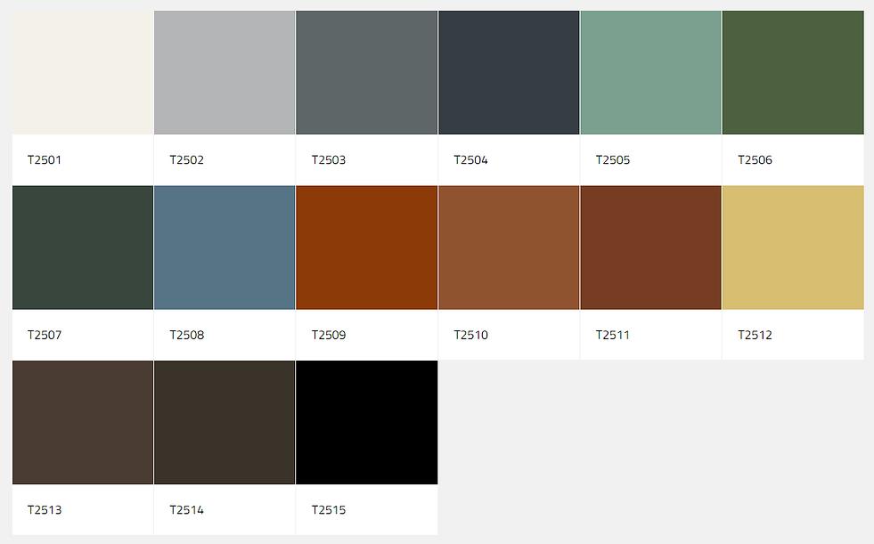 roof colour palette