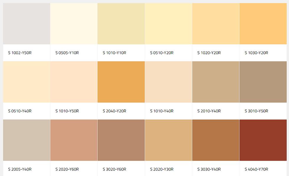 colour palette for exterior mineral facades