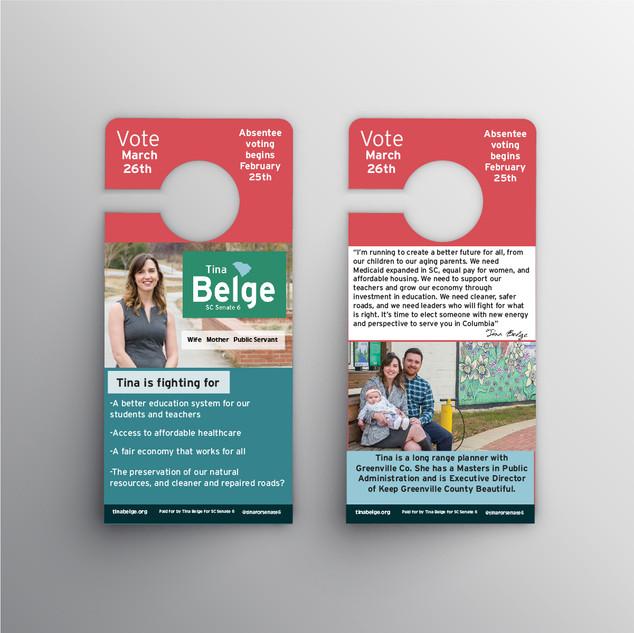 Political campaign door hanger