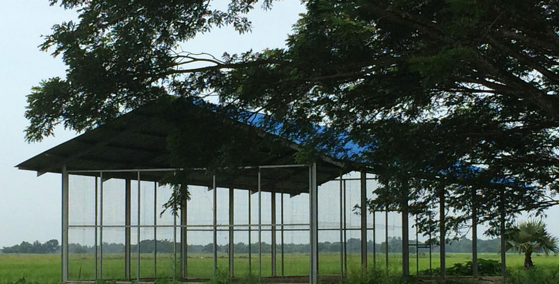미얀마 선진축산기술전수학교 실습장 (건축) 전경.JPG