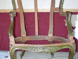 Restaurer un siège avec une méthode traditionnelle...