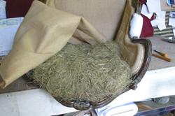 le sofa bleu, tapissier garnisseur