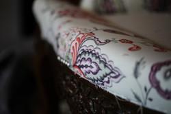 le sofa bleu, atelier de tapisserie
