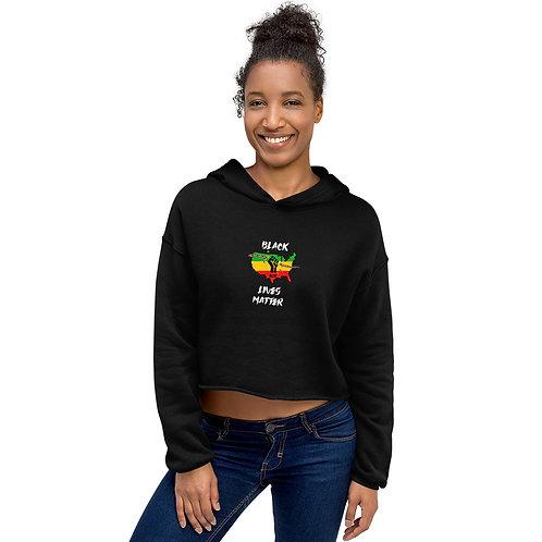 Black Lives Matter (BLM) Crop Hoodie