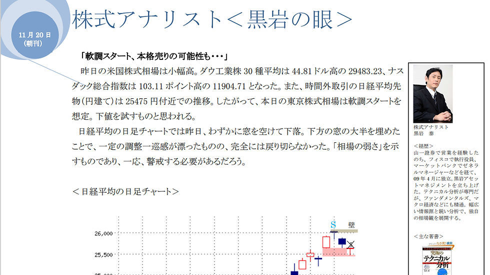 「黒岩の眼」PDF版、朝夕刊(年間購読)