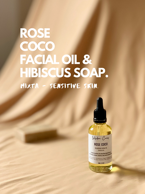 Pack - Rose-Coco Facial Oil & Soap