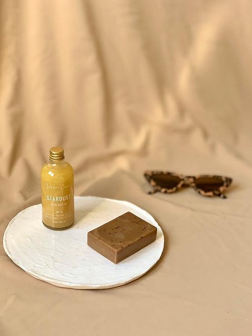 Summer Glow - body oil & body soap exfoliant