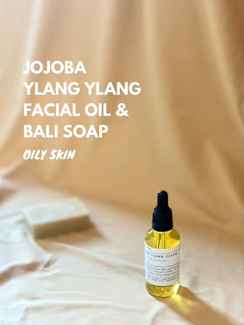 Pack - Ylang - Aceite facial de jojoba y jabón Bali