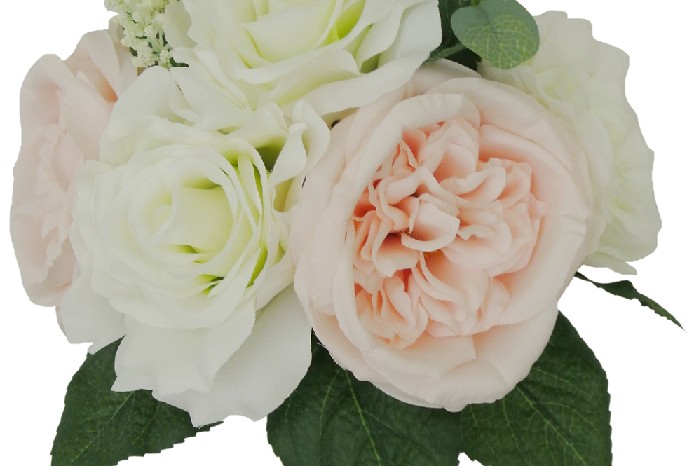"14"" Rose Cabbage Rose Bouquet(80298)"