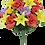 "Thumbnail: 24"" Rose Lily Gerbera Bush X24"