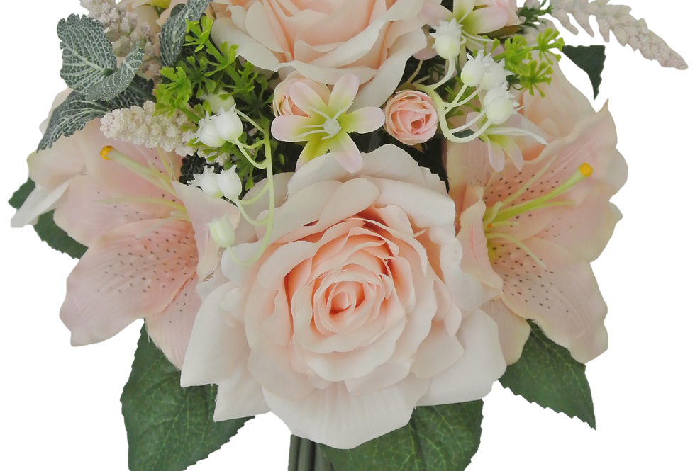 "14"" Rose Lily Bouquet"