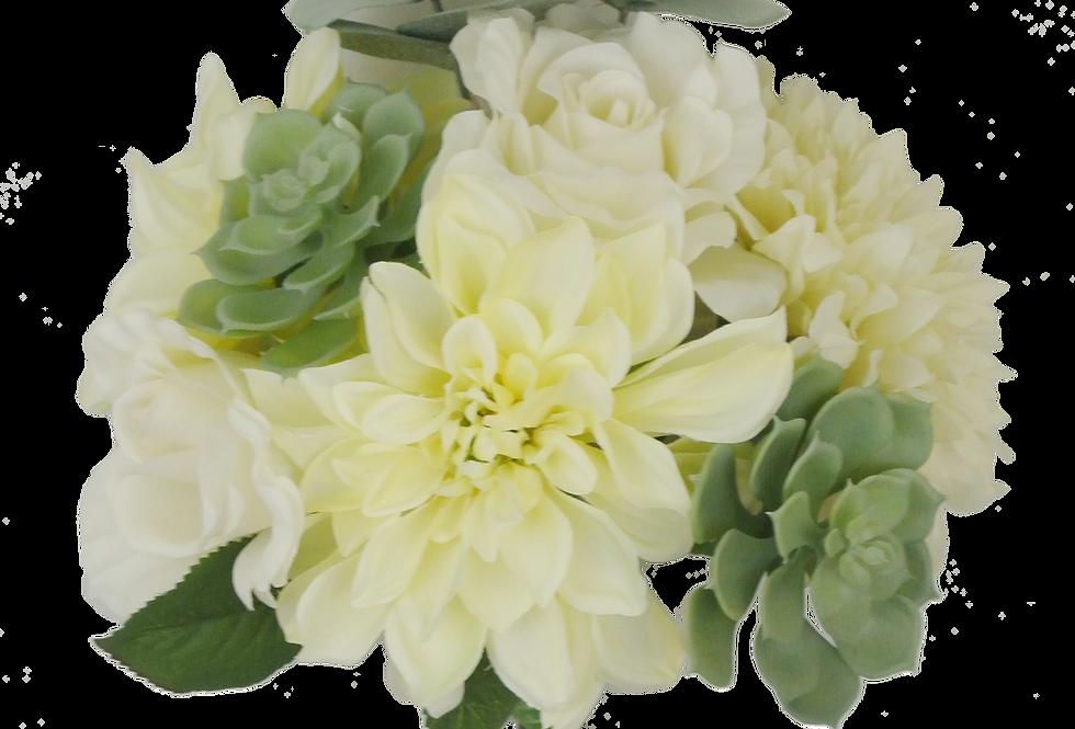 "15"" Dahlia Rose Succulent Bundle"