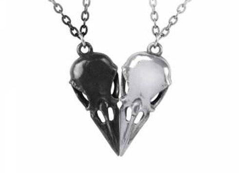 Alchemy Coeur Crane Couple's Friendship Necklace