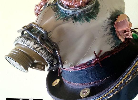 Steampunk Gas-mask Bowler Hat HC39XL