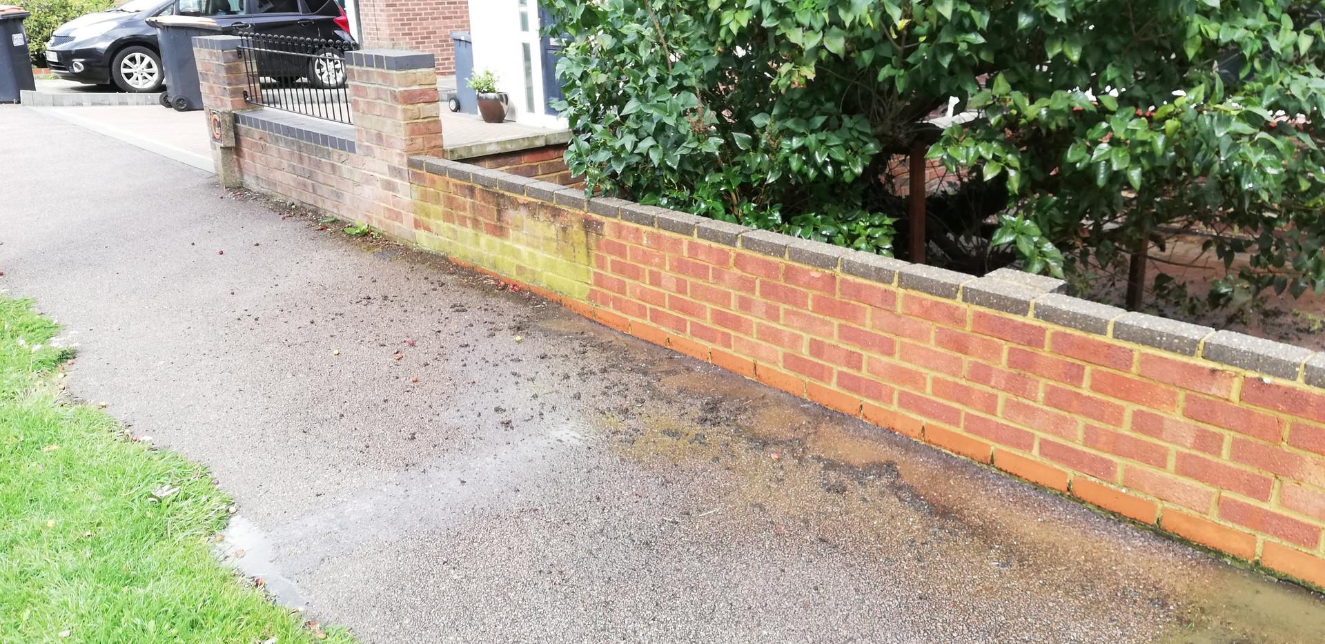 Brick wall cleaning  Sharnbrook