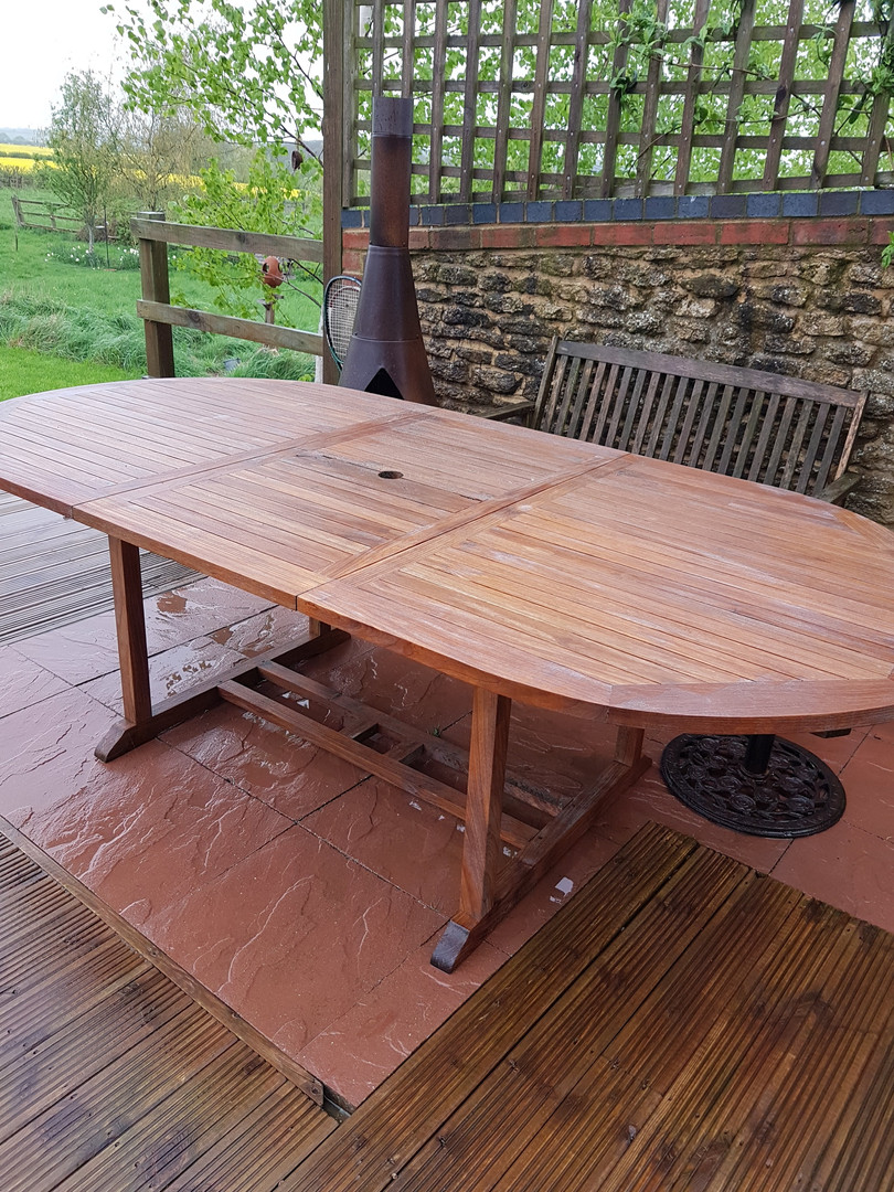 Garden table after