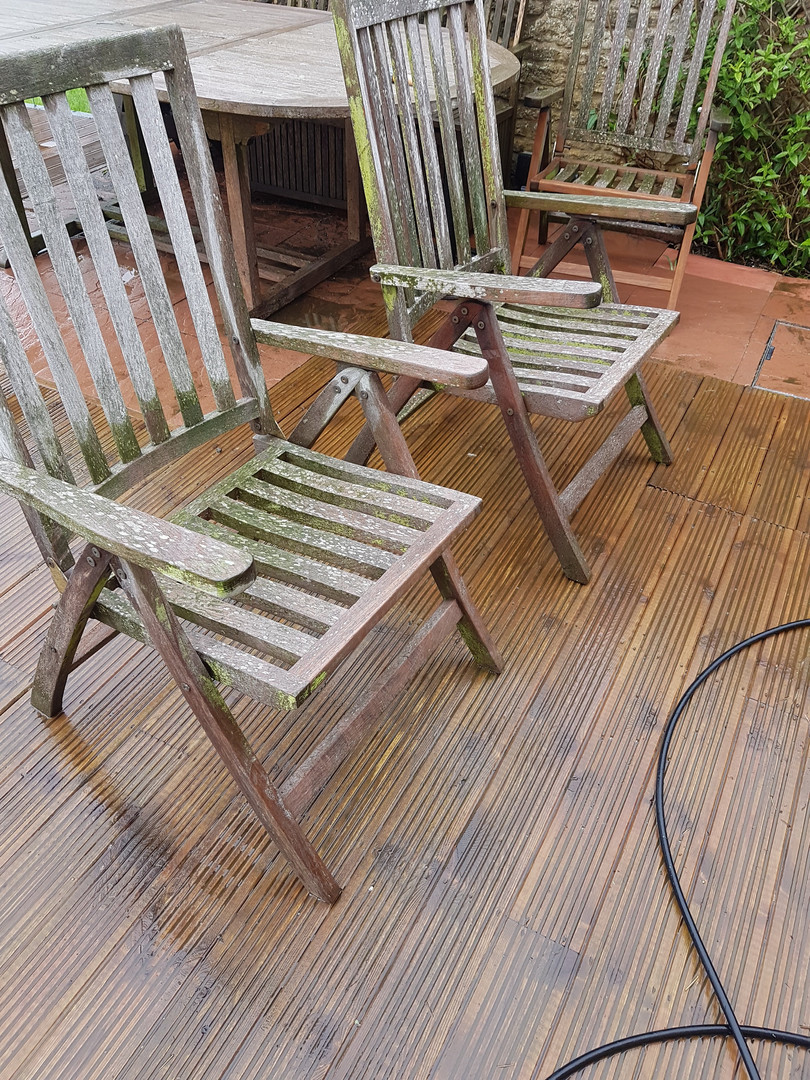 Garden chairs before