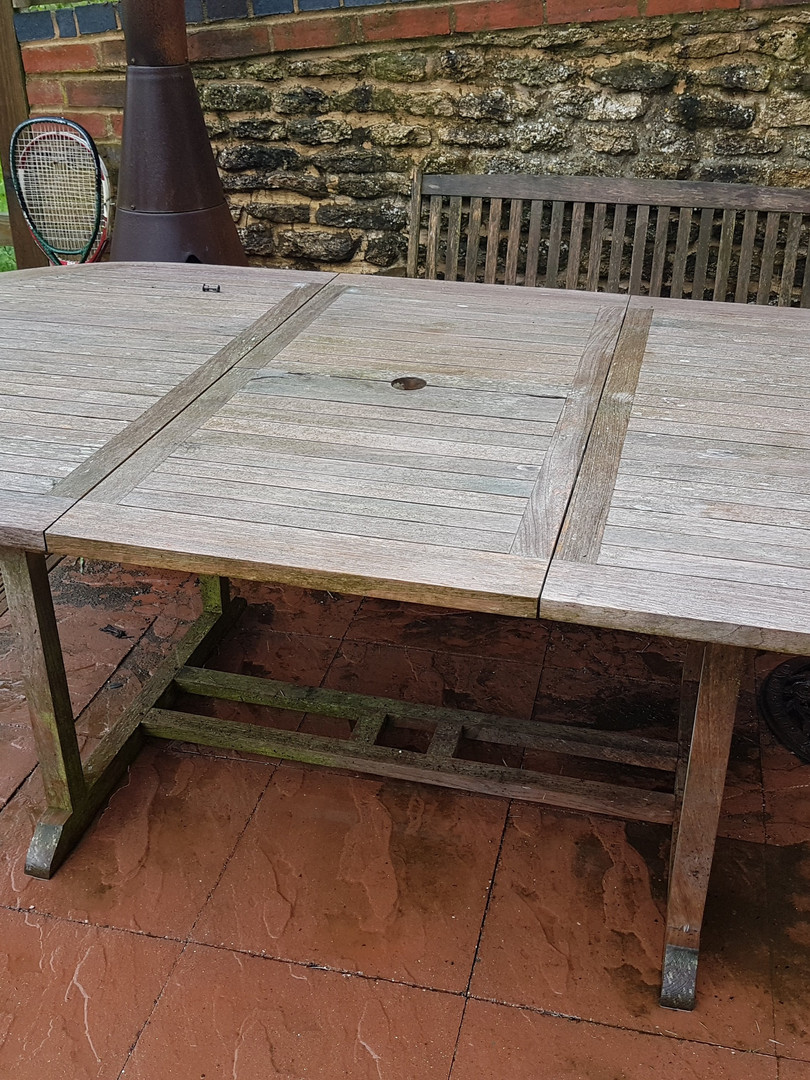 10 year old garden table Before