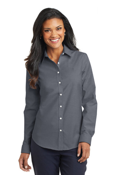 Womens Port Authority SuperPro Oxford Long Sleeve