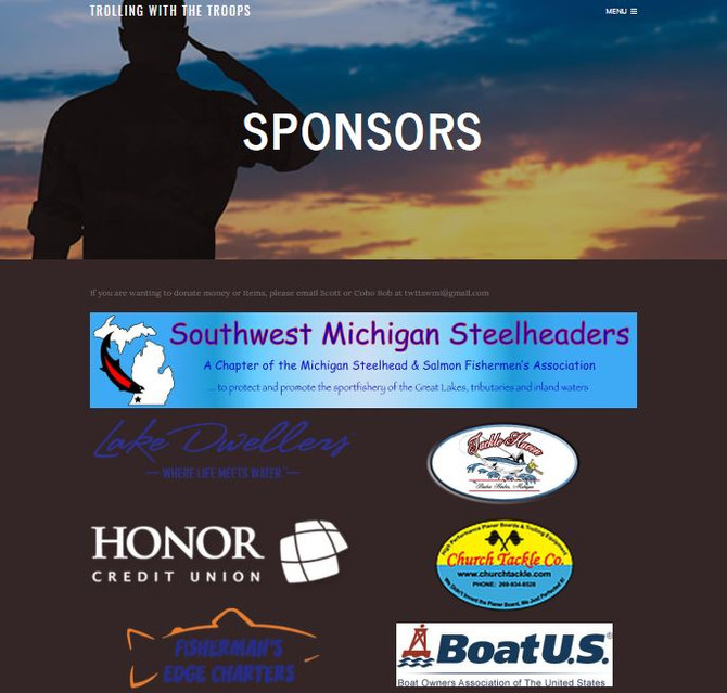 Lake Dwellers is Pleased to Announce our Sponsorship of SWMI Steelheaders, Trolling With The Troops.