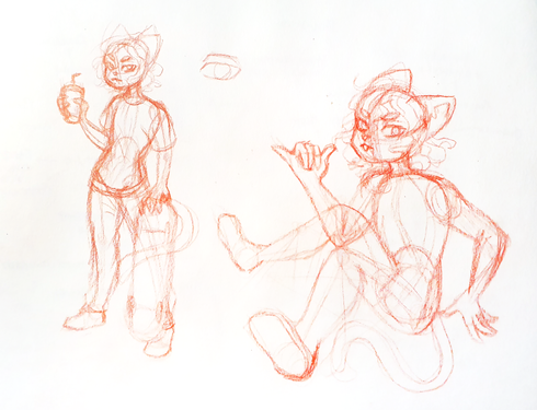 sk8ter cat sketches