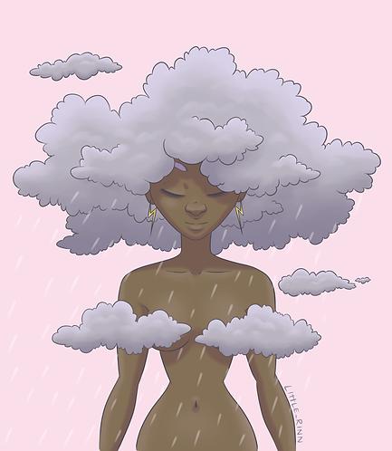 Storm Girl Print