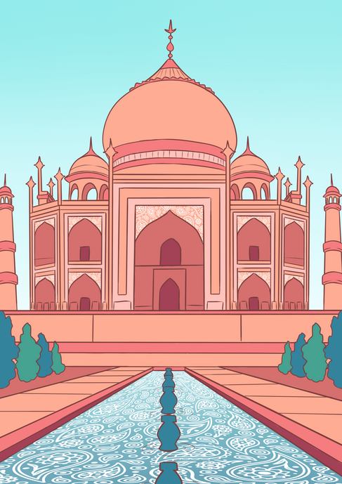 Taj Mahal - Colour by Numbers Concept
