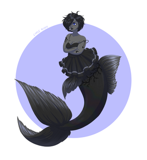 Black Moor Mermaid - Redraw