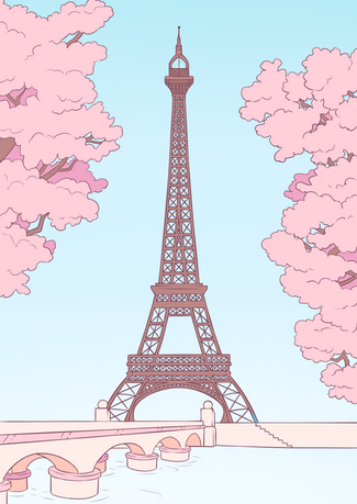 Eiffel Tower - Colour by Numbers Concept