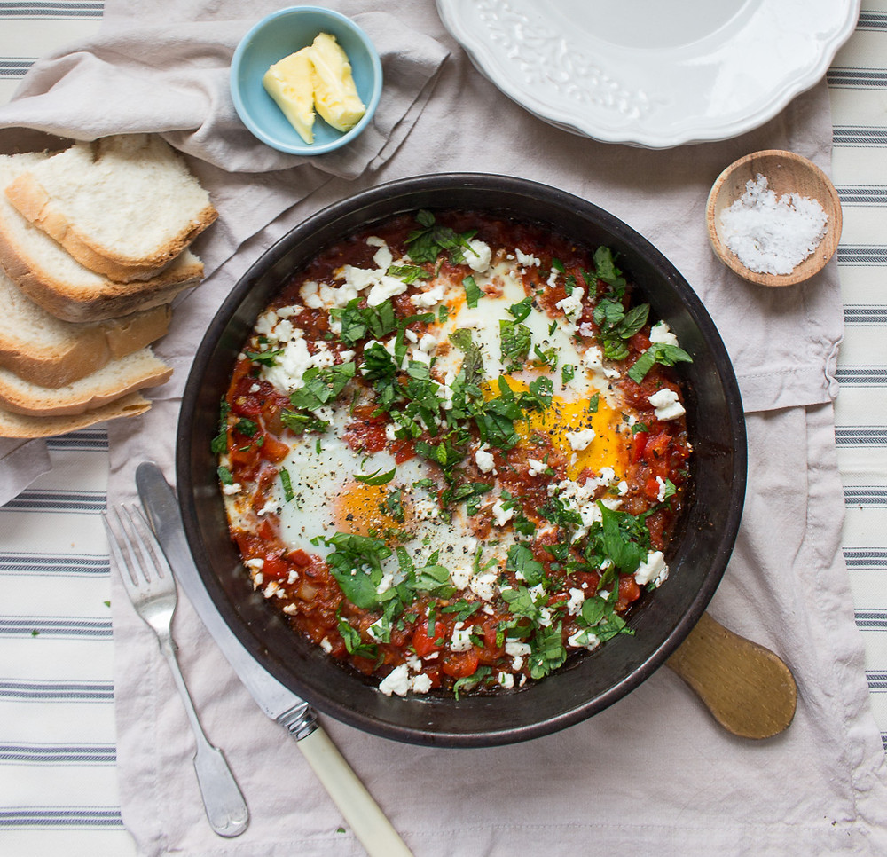 Image of Harissa Baked Eggs