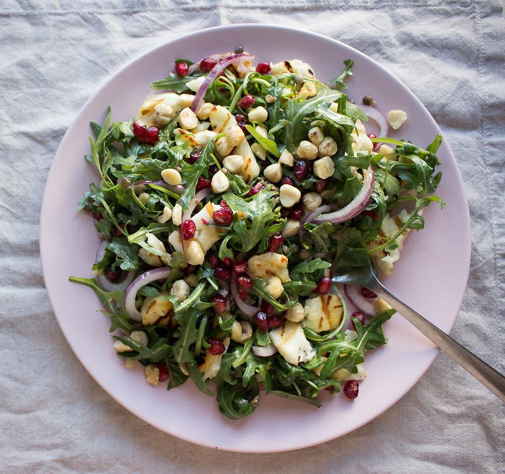 Grilled Halloumi and Lentil Salad