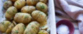 Roast Hasselback Potatoes with Lemon, Ga