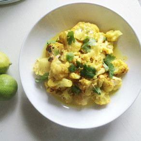 Recipe: Coconut & Lime Baked Curried Cauliflower