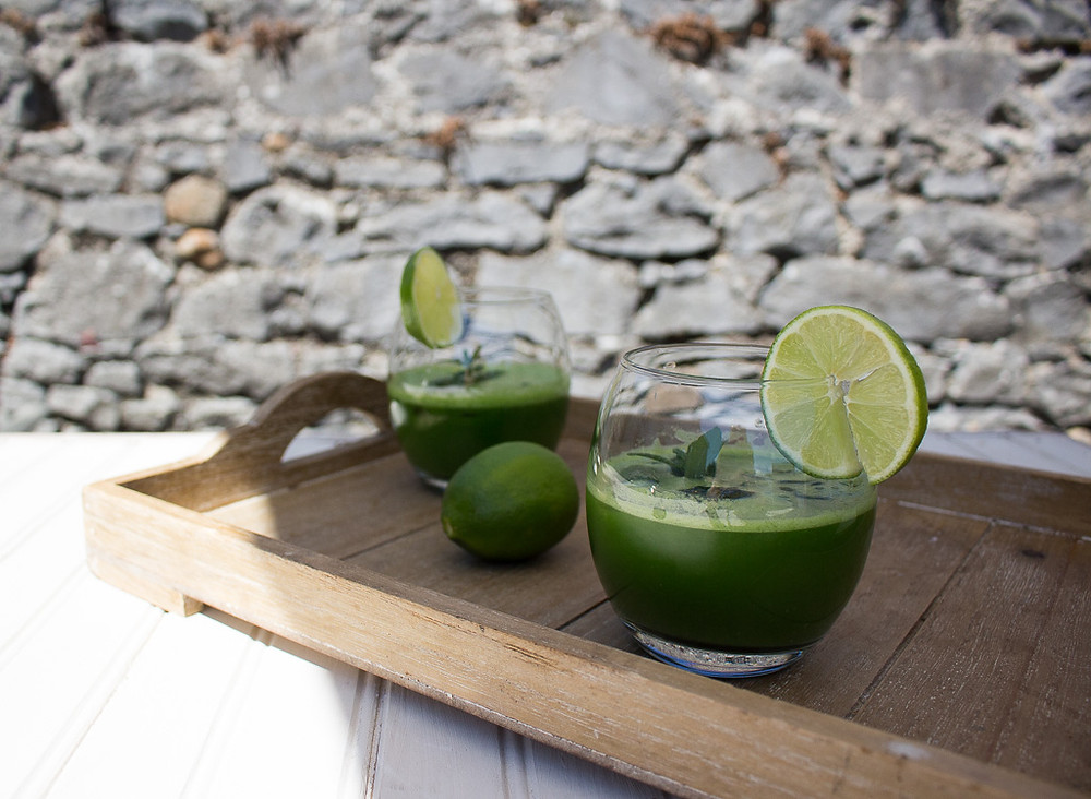 Mint & Lime Green Juice