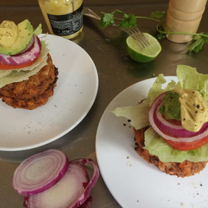 Recipe: Mexican Style Veggie Burger with All the Trimmings