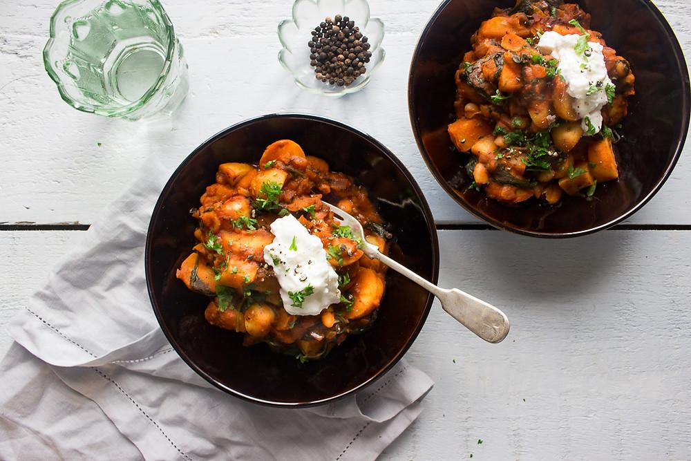 Easy Potato and Bean Stew